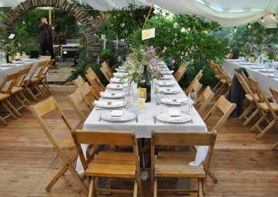 Hard Flooring, Tables & chairs for a wedding reception