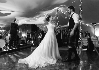 Bride and Groom's first dance in a chino stretch tent