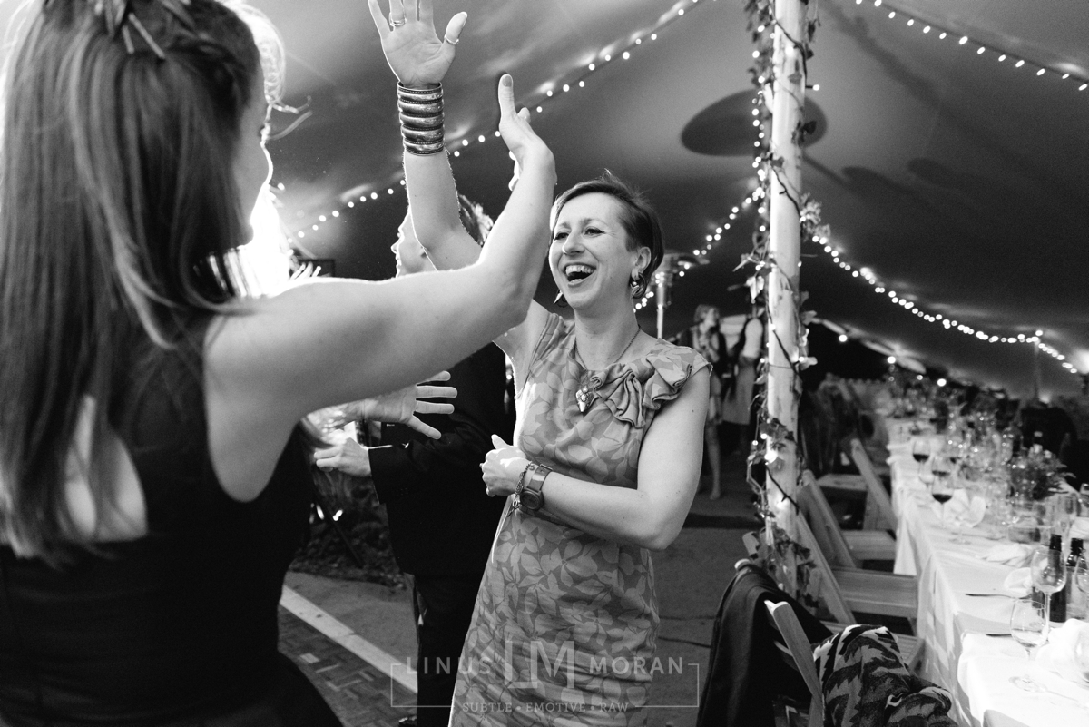 stretch tent dancing wedding