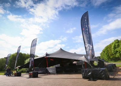 20m x 12m black stretch tent
