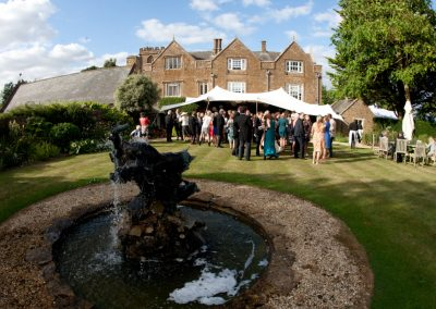 Wedding Reception in Somerset garden
