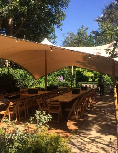garden stretch tent dining