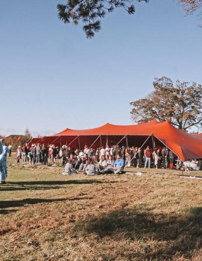 30m x 18m orange stretch tent
