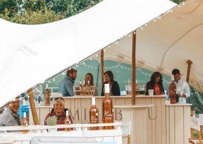 Mirabeau Wine brand stall at Big Feastival. Image by James Ranken