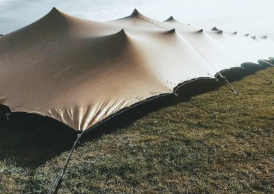 20m x 15m Chino Stretch tent with sides down