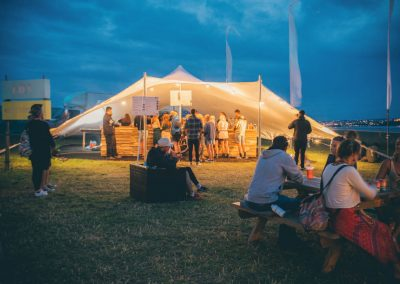 Stretch tent at Boardmasters festival