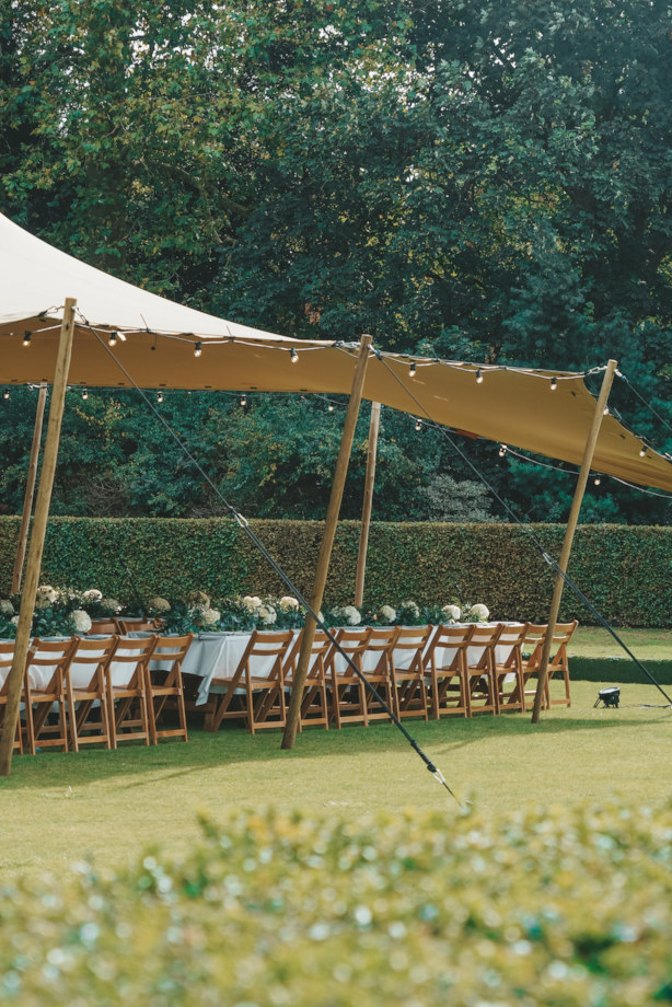chino stretch tent with seating