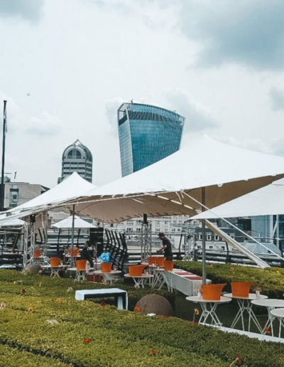 London city stretch tent