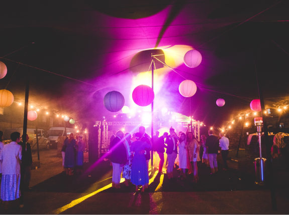 stretch tent disco lights