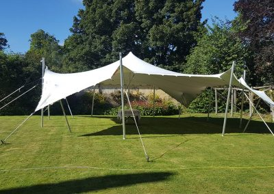 Dorset garden party with a white stretch tent