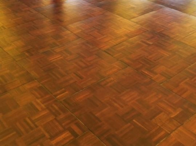 oak parquet dance floor