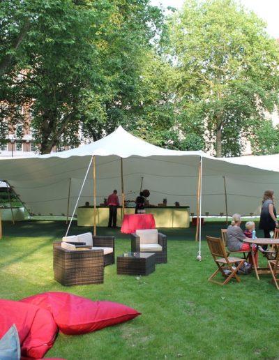 garden white stretch tent