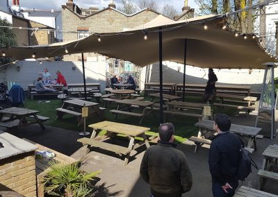 Crystal palace pub garden cover for the winter