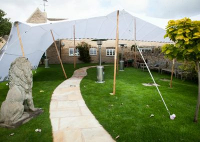 Extra cover for guests at a weding reception in Somerset