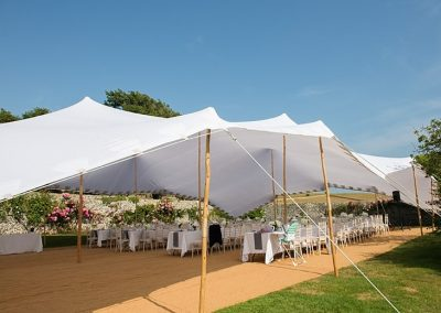 White stretch tent wedding. Featured in rock my wedding