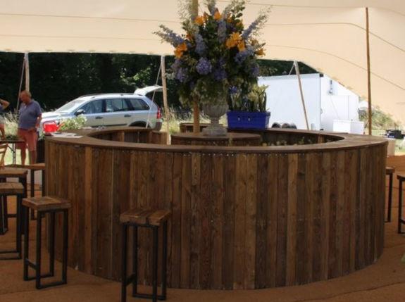 round wooden bar
