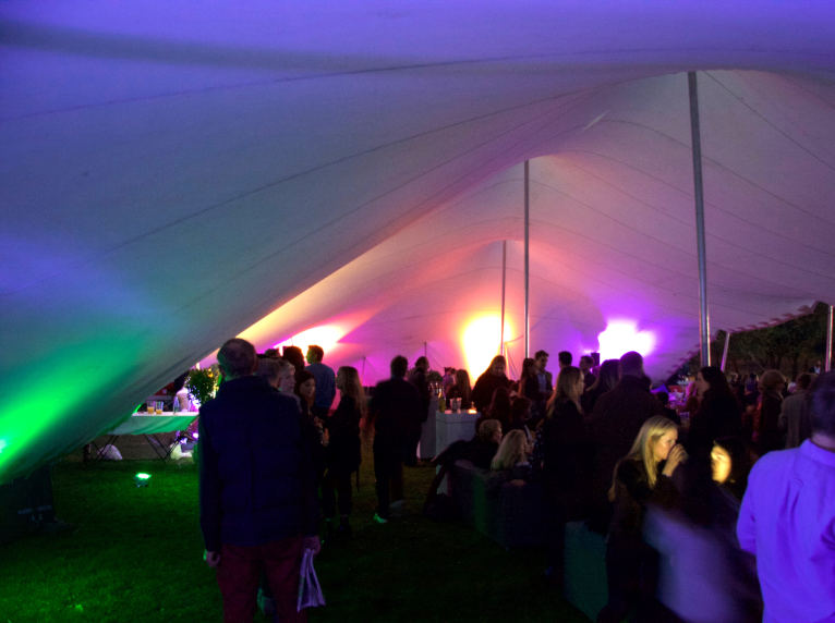 stretch tent uplighting