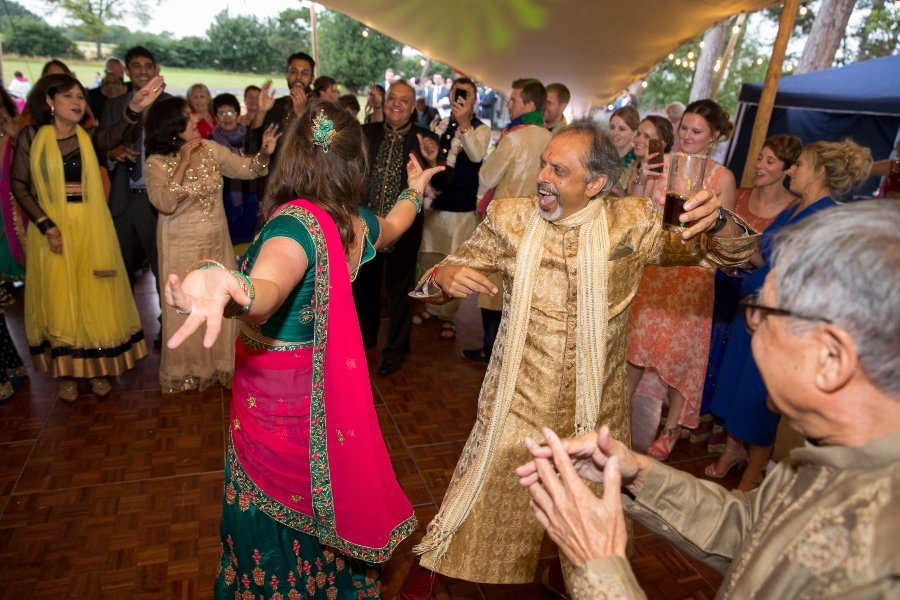 dancing at indian wedding