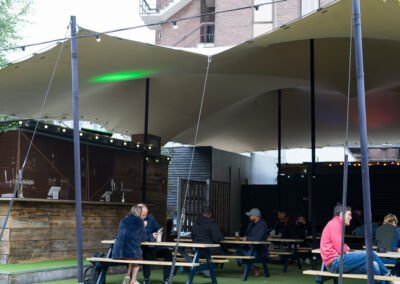 Pub garden stretch tent
