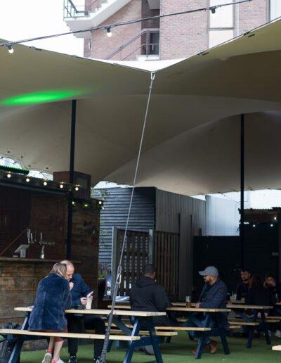 Pub garden stretch tent