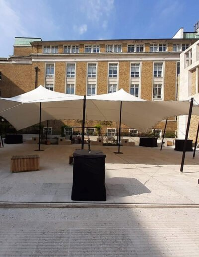 White stretch tent at UCL (1 of 2)