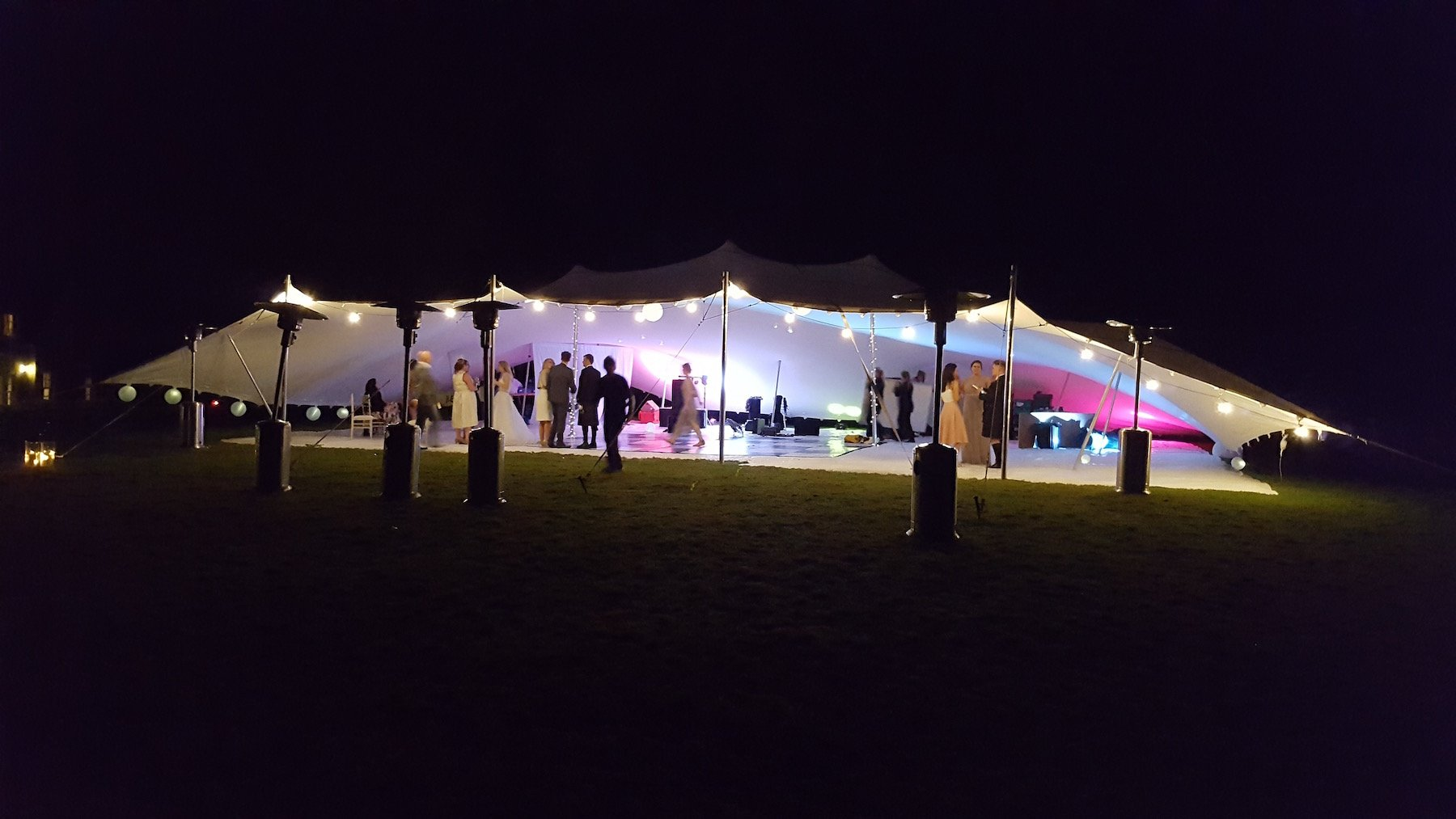 covered garden stretch tent party