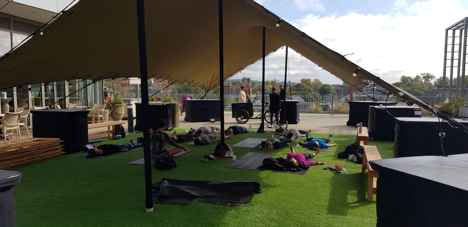 Yoga rooftop tent