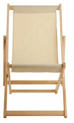 Cream Deck Chair