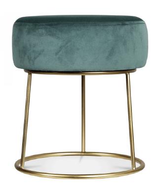 Turquoise Footstool