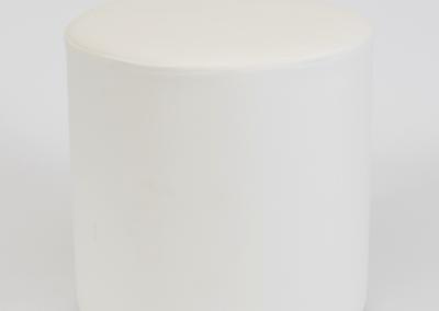 White Ottoman Cube